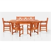 Sturdy and Large Dining Set with rectangular table, 5-footbench and Arm Chairs 11