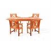 Sturdy and Large Dining Set with rectangular table and Arm Chairs