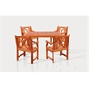 Sturdy and Large Dining Set with square table, and Arm Chairs 18