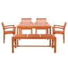 Sturdy and Large Dining Set with rectangular table, backless bench and Arm Chairs 21