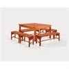 Sturdy and Large Dining Set with square table, and Arm Chairs 11