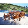 Malibu Eco-Friendly 7-Piece Wood Outdoor Dining Set V1561SET6