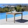 Renaissance Eco-friendly Outdoor Hand-scraped Hardwood Rectangular Garden Table
