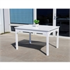Bradley Eco-friendly Outdoor White Hardwood Rectangular Garden Table