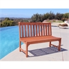 Malibu Eco-friendly 4-foot Outdoor Hardwood Garden Armless Bench