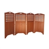 "48"" Outdoor Acacia Wood Privacy Screen with 4 Panels"