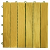 6 Slat Acacia Interlocking Deck Tile (Set of 10 Tiles)
