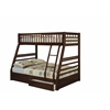 Jason Twin over Full Bunk Bed with 2 Drawer in Espresso