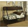 Tritan Twin XL/Queen Bunk Bed, Black
