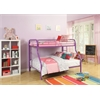 Tritan Twin/Full Bunk Bed, Purple