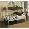 Tritan Twin/Full Bunk Bed, White