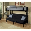 Eclipse Twin/Full/Futon Bunk Bed, Black