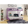 Eclipse Twin/Full/Futon Bunk Bed, Purple