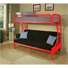 Eclipse Twin/Full/Futon Bunk Bed, Red