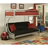 Eclipse Twin XL/Queen/Futon Bunk Bed, Silver