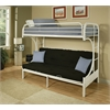 Eclipse Twin/Full/Futon Bunk Bed, White