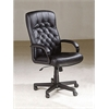 Charles Office Chair with Pneumatic Lift, Black PU