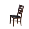 Urbana Side Chair (Set-2), Black PU & Cherry