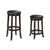 Chelsea Bar Stool with Swivel (Set-2), PU & Espresso