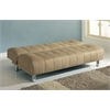 Sylvia Adjustable Sofa, Beige Microfiber