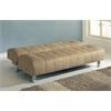 Sylvia Adjustable Sofa, Beige Microfiber