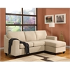 Vogue Sectional Sofa (Reversible Chaise), Beige Microfiber