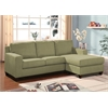 Vogue Sectional Sofa (Reversible Chaise), Sage Microfiber