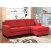 Vogue Sectional Sofa (Reversible Chaise), Red Microfiber