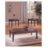 Chester 3Pc Pack Coffee/End Table Set, Merlot
