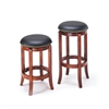 Chelsea Counter Height Stool with Swivel, PU & Oak