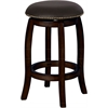 Chelsea Counter Height Stool with Swivel, Black Leather & Espresso