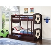 All Star Soccer Twin/Twin Bunk Bed, Espresso