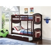 All Star Football Twin/Twin Bunk Bed, Espresso