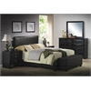 Ireland III Queen Bed (Panel), Black PU