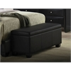 Ireland Bench with Storage, Black PU
