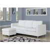 Kemen Sectional Sofa (Reversible Chaise), White PU