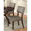Drake Side Chair (Set-2), Gray Fabric & Espresso