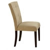 Baldwin Side Chair (Set-2), Beige Microfiber & Walnut