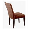 Baldwin Side Chair (Set-2), Chocolate Microfiber & Walnut