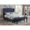 Faye Eastern King Bed, Blue Linen