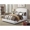 Caroline Queen Bed, White Linen