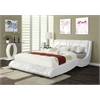 Nathan Eastern King Bed, White PU