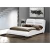 Romney Queen Bed, White PU