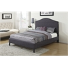 Clyde Eastern King Bed, Gray Linen