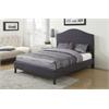 Clyde Queen Bed, Gray Linen