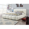 Acacia Queen Bed, Ivory PU