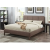 Rosanna Eastern King Bed, Light Brown Linen