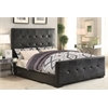 Lorelei Queen Bed, Black PU