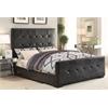 Lorelei Eastern King Bed, Black PU