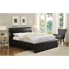 Israel Queen Bed, Black PU
